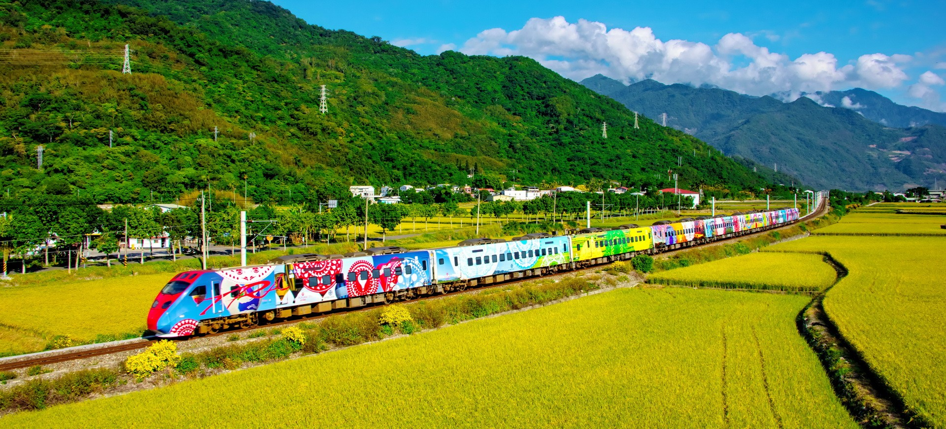 Taiwan Taitung Train traversant la campagne