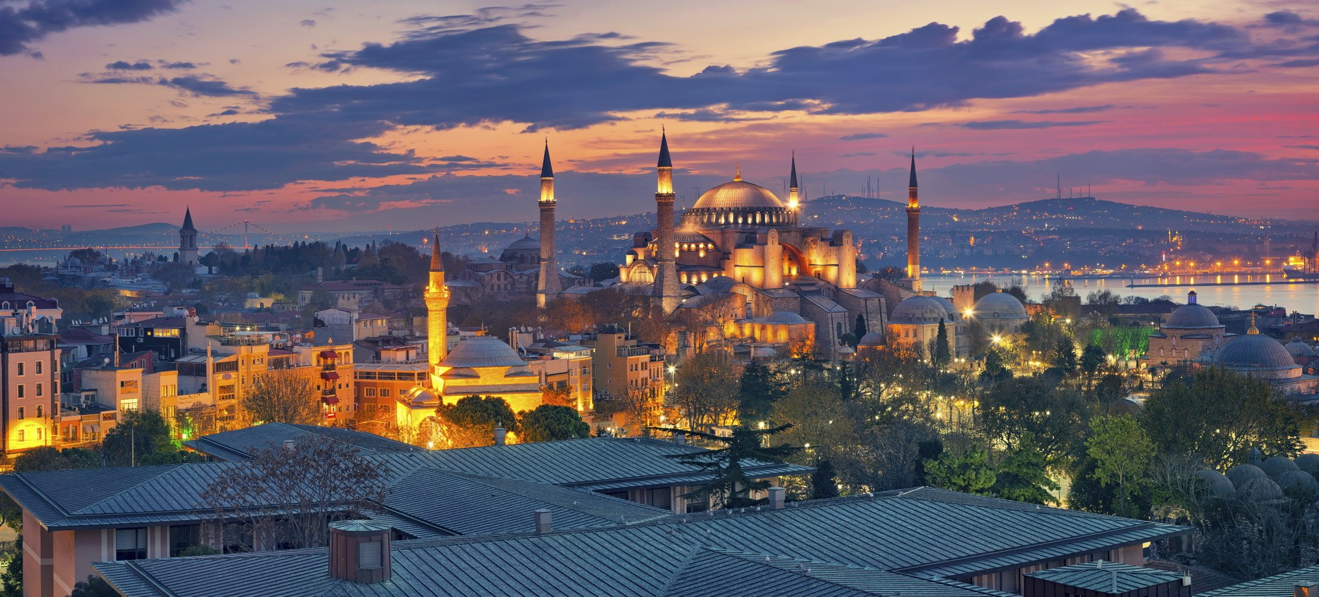Sainte Sophie by night à Istanbul