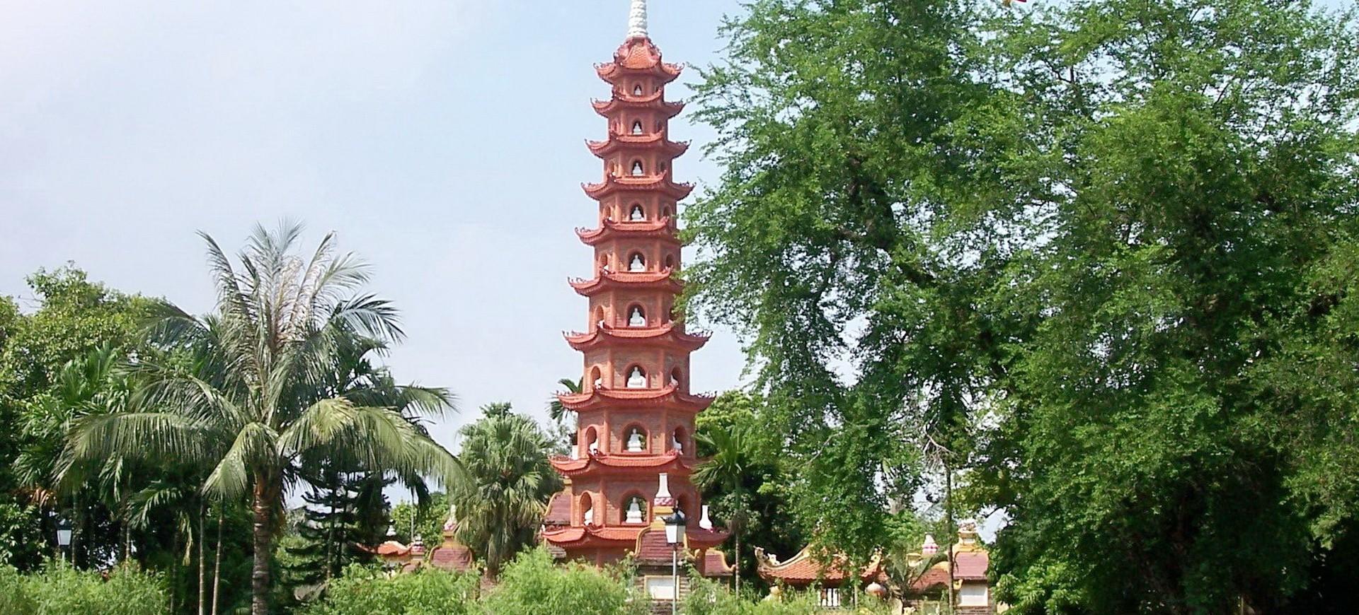 Pagode à Hanoi au Vietnam