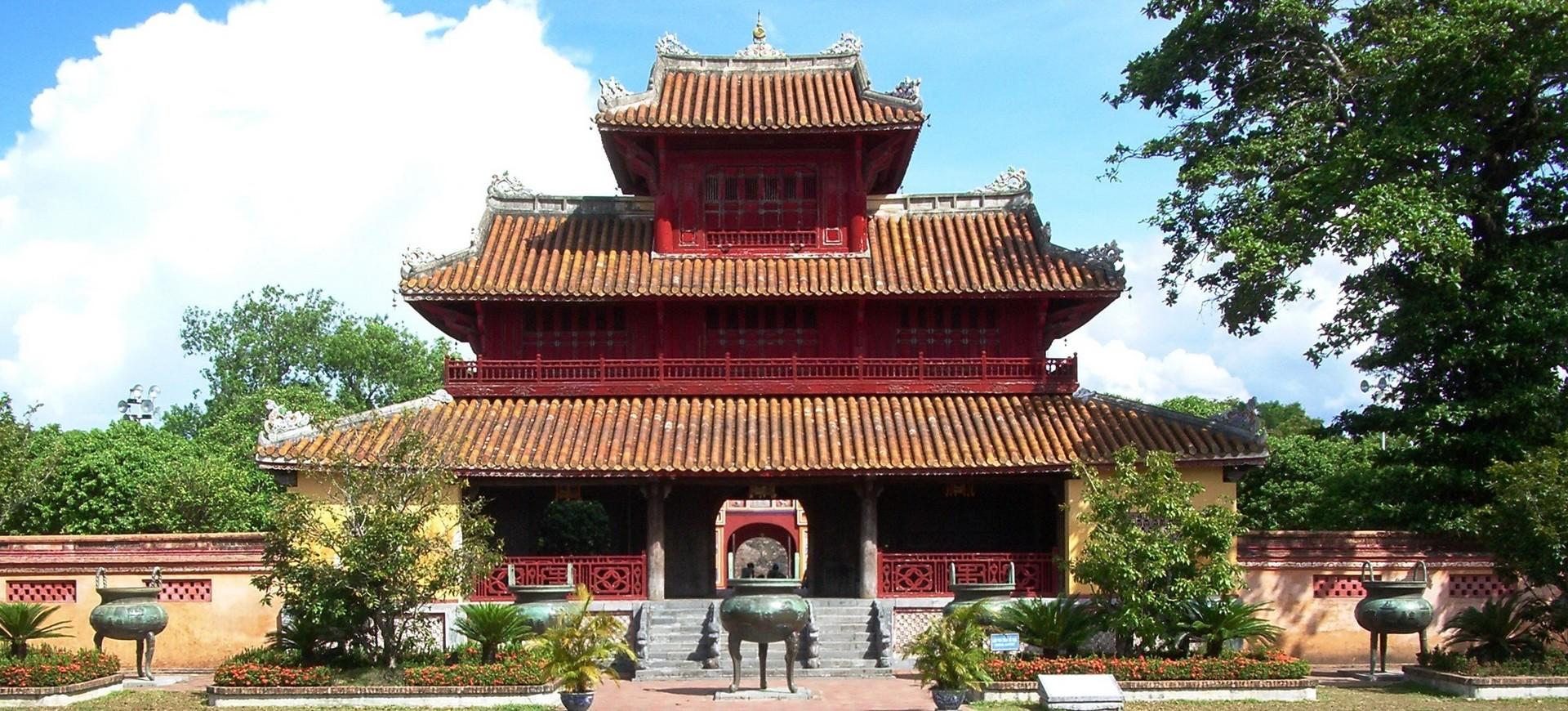 Temple à Hué au Vietnam