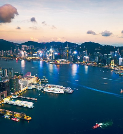 Hong Kong Baie et Skyline by night 002