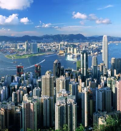 Hong Kong Panorama Vu Panoramique depuis le Pic Victoria 001 (1)