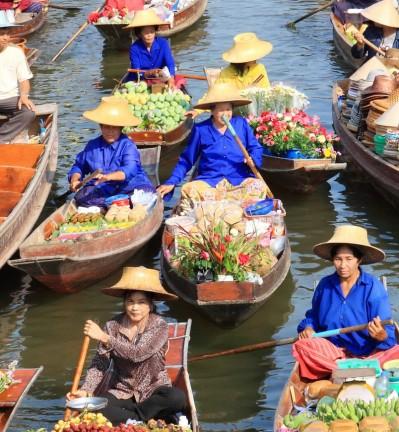 Thailande Ratchaburi Marché Flottant 003