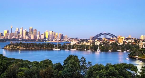 Australie OT Sydney Vue panoramique sur la Baie depuis Taronga Zoo 002
