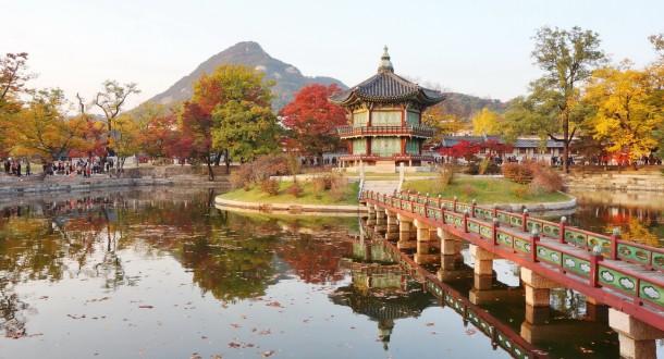 Palais Royal Gyeongbokgung  et le Palais Changdeokgung à Séoul en Corée du Sud