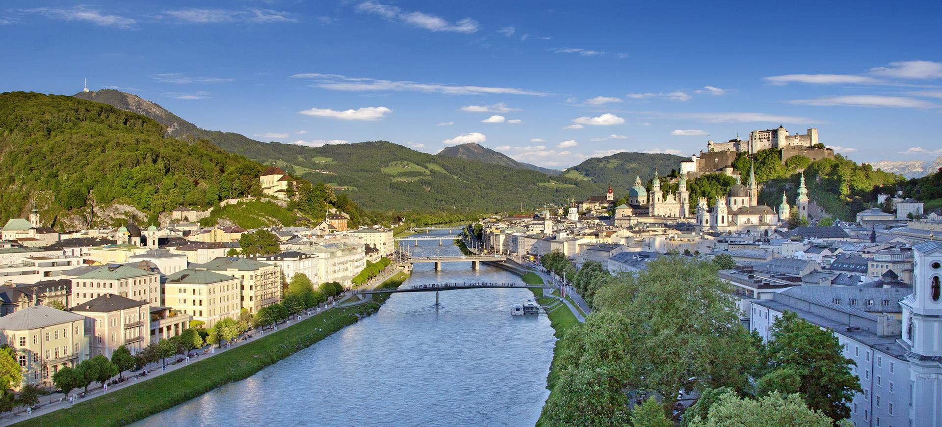 Autriche Salzbourg ville par Julius Silver